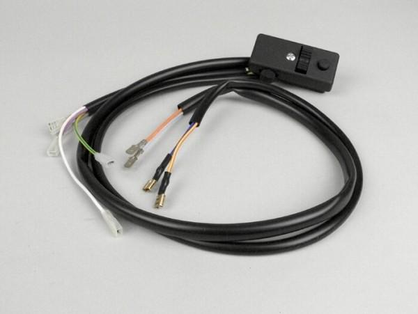 Lichtschalter -GRABOR- Vespa PX80, PX125, PX150, PX200 (Bj. 1978-1983) - 9 Kabel (12V Modelle mit Blinker, ohne Batterie)