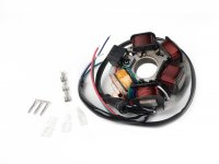 Ignition -BGM PRO stator HP V2.0- Vespa PK XL - 5 coils, 6-cable (round plug with 3-pin) - for vehicles without battery