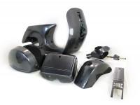 Frame -LML, drum brake- LML Star - including mudguard, side panels, tool box, handlebar, horn cover - graphite