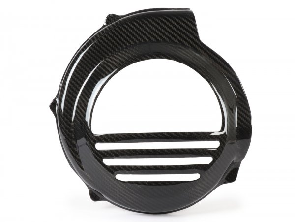 Lüfterradabdeckung -TOMAS COMPOSITI, Echtcarbon Standard- Vespa PX80, PX125, PX150, PX200 - Modelle nur Kickstarter