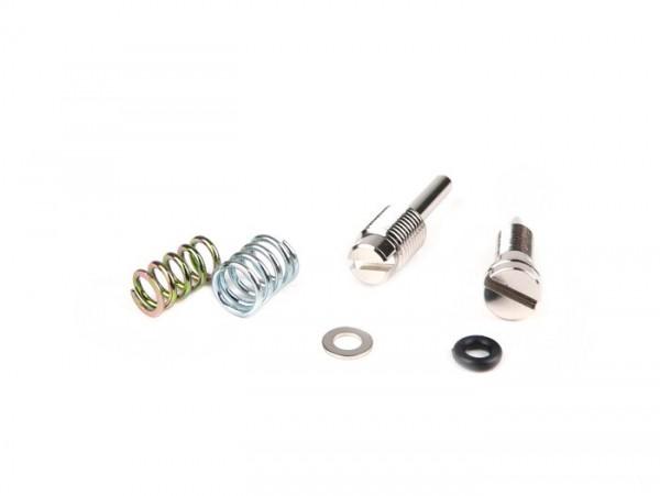 Fuel/air mixture screw and throttle valve ajduster screw set -DellOrto PHBN carburettor- Minarelli 50cc (automatic choke)