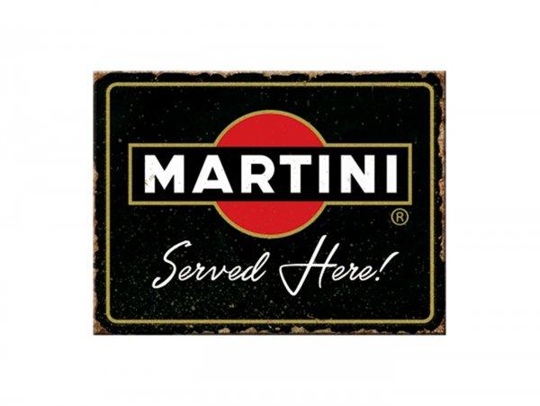 "Magnet -Nostalgic Art- ""Martini - Served Here"" - 6x8cm"