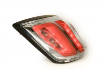 Tail light -POWER 1 LED Tube- Vespa Primavera, Sprint - clear glass / frame black matt