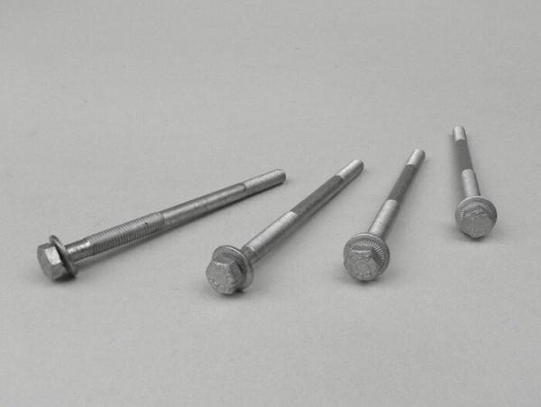Schraube mit Flansch Set -M6 x 95mm- (verwendet für Zylinder Peugeot 50 ccm (vertical/horizontal))