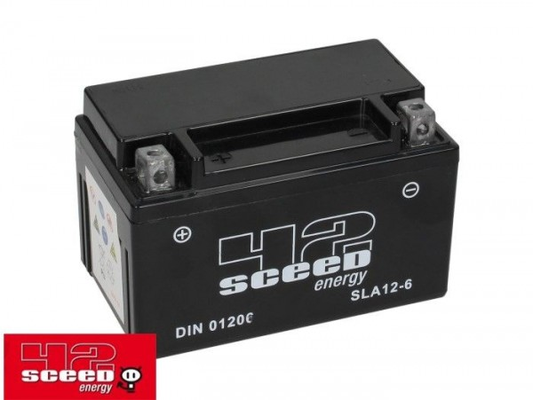 Batterie -Gel SCEED 42 Energy- SLA12-6 - 12V, 6Ah - 150x87x94mm