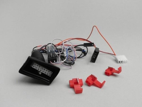 Kit cables sistema de alarma -PIAGGIO E-Lux- Vespa LX, LXV, Gilera Runner 50 (1997-), NRG, NRG MC2, NRG MC3, NRG Extreme, NRG Power, NTT, Typhoon 50 (2001-), Beverly, Carnaby, X-Evo, X7, X8, X9