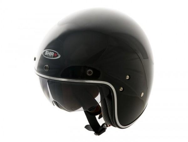 Helm -SHIRO SH235, Jet-Helm- schwarz - L (59-60 cm)