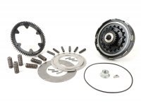 Clutch incl. primary drive set -BGM Pro Superstrong 2.0 CR80 Ultralube, type Cosa2/FL - primary gear BGM Pro 63 tooth (straight) - Vespa PX80, PX125, PX150, PX200, Cosa, T5, Sprint150 Veloce, Rally, GTR, TS125, Super150 (VBC) - 25/63 tooth (2.52)