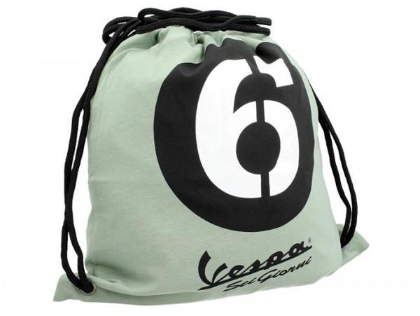 Drawstring bag -PIAGGIO Sei Giorni 42x45cm, 100% cotton- green