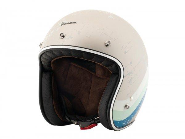 Helmet -VESPA  open face helmet Heritage- grey (grigio metallizato Pia 105)-  S (55-56 cm)