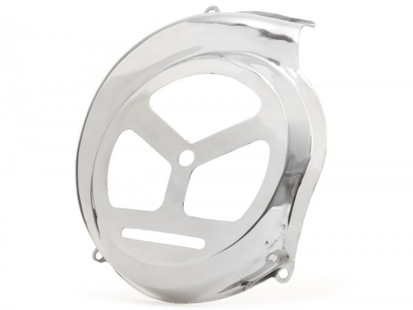 Flywheel cover -VESPA GS150 Style- Vespa PX80, PX125, PX150, PX200 - models with electric starter - stainless steel