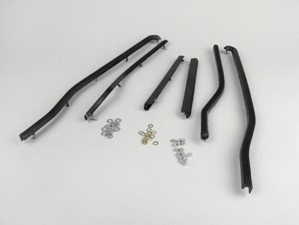 Trittleistensatz hinten -SPAQ- Lambretta LI (Serie 3), LIS, SX, TV (Serie 3) - Schwarz