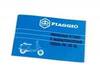 Owner's manual -VESPA- Vespa PK 50 XL