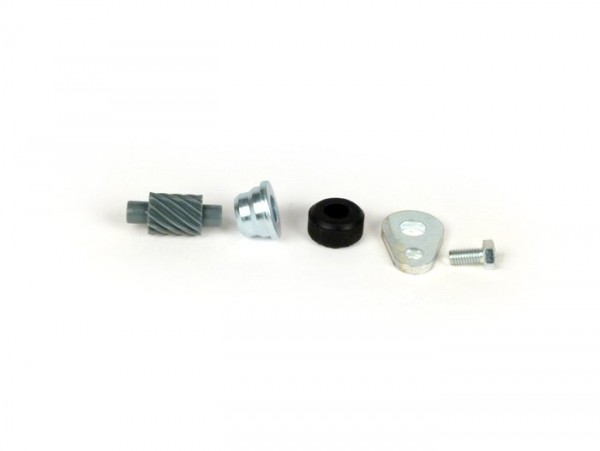 Speedo drive kit -OEM QUALITY- Vespa 12 teeth, l=28mm, 2,7mm square, grey (used in Vespa PX (1998-), Disc, My, 2011)