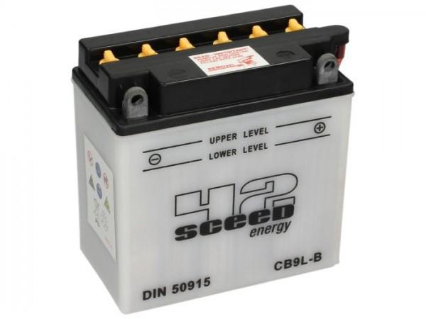 Batería -Standard SCEED 42 Energy- CB9L-B (12N9-3B) - 12V, 9Ah - 140x76x137mm - ácido incl.