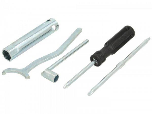 Type tool set -PIAGGIO- Vespa GT 250 (ZAPM45102), Vespa GT L 125 (ZAPM31101), Vespa GTS 125 (ZAPM31300), Vespa GTS 250 (ZAPM45101), Vespa GTS Super 300 (ZAPM45200), Vespa GTV 125 (ZAPM31301), Vespa GTV 250 (ZAPM45102), Vespa GTV 300 (ZAPM45201), Vesp