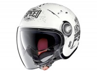Helmet -NOLAN, N21 Visor Moto GP Legends- open face helmet, scratched flat white - L (59-60cm)
