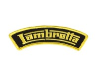 Patch thermocollant -LAMBRETTA- jaune - épaule - 110x35mm