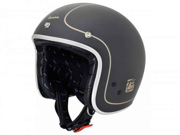 Helmet -VESPA jet helmet 75th Anniversary - black - S (55-56 cm)