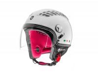Helmet -HELMO MILANO- Demi jet, Turbine, pearl white - M (57cm)