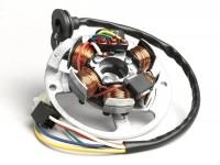 Zündung -BGM ORIGINAL Grundplatte- Minarelli 50 ccm (Ducati) horizontal - 40cm Kabel