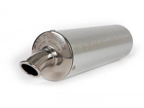 Silenciador -PM TUNING salida del tubo curvada- plateado