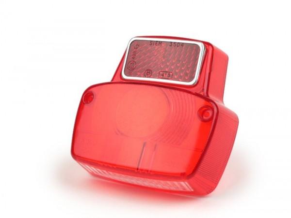 Rücklichtglas -SIEM- Vespa Antik klein - Rot
