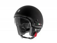 Helm -HELMO MILANO- Demi Jet, Puro Stile, rubber black -
