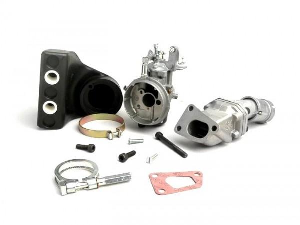 Carburator kit -POLINI 3-stud, 19mm Dellorto SHB, reed valve- Vespa PK XL