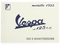 Owner's manual -VESPA- Vespa 125 (1955)