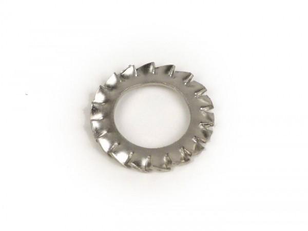 Serrated lock washer for flywheel nut -OEM QUALITY- Vespa GS160/GS4 (VSB1T), SS180 (VSC1T), Rally180 (VSD1T), Rally200 (VSE1T) - Ø33mm, Ø21mm