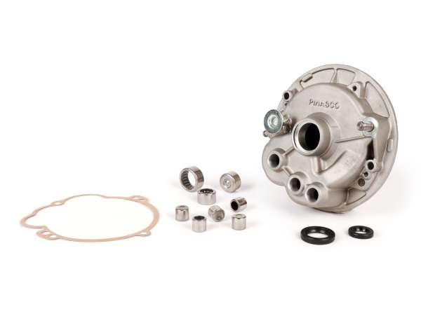 Getriebedeckel (inkl. Lagersatz) -PINASCO- Piaggio Ciao, Boss, SI, Grillo, Bravo, Superbravo, PX - wird benötigt zum Umbau auf Variomatik