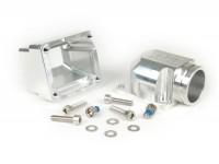 "Intake manifold -MRP reed valve CNC ""SHORTY""- Vespa Largeframe PX, Rally, Sprint, Cosa, T5 125cc - Øinner=35mm - CS=40mm"