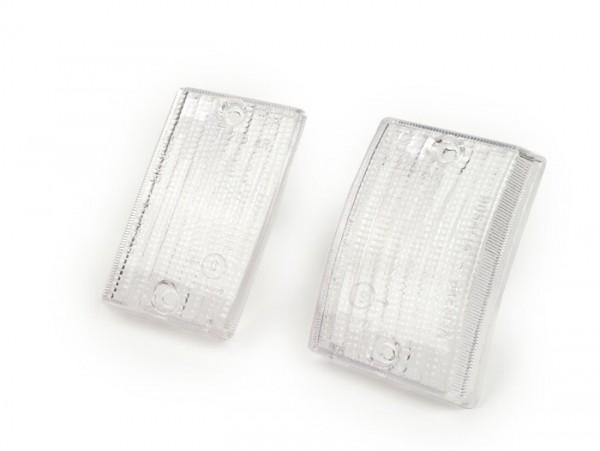 Blinkergläser -BOSATTA 2er Set- Vespa PK50 S, PK80 S, PK125 S vorne - weiss