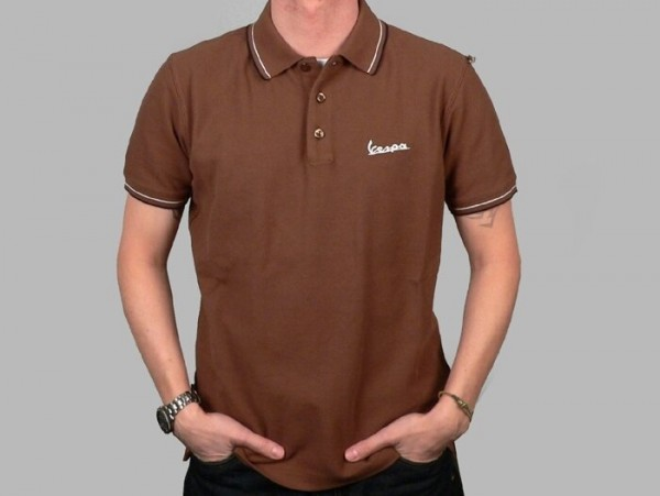 Polo-Shirt Herren -VESPA- braun - S