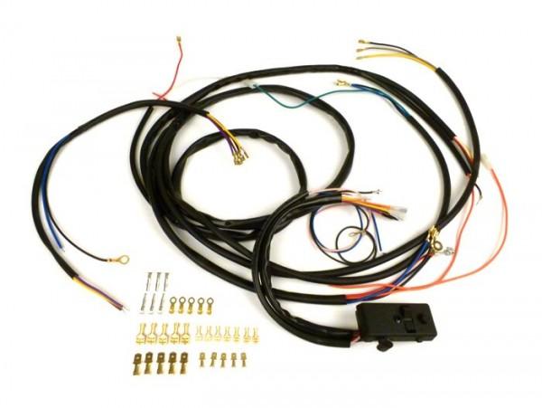 Kabelbaum-Set Conversion (inkl. Lichtschalter) -BGM PRO, Vespa AC Umrüstung auf Elektronische Zündung- Vespa Smallframe V50 Special