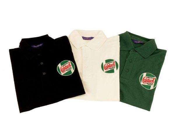 Polo-shirt -CASTROL, Classic- men - black - XXL