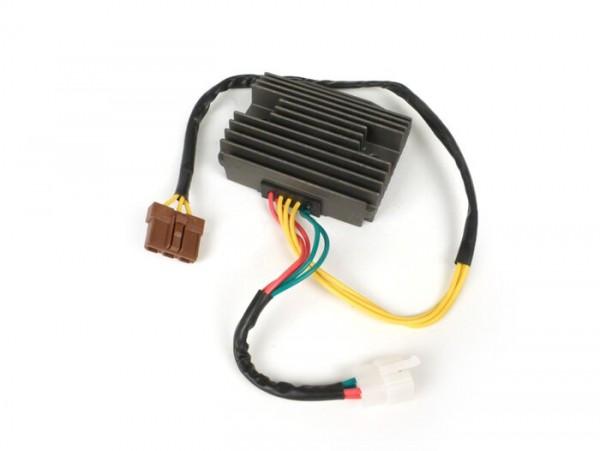 Regulador -CALIDAD OEM 4+3 clavijas- Piaggio Quasar/HPE 250-300cc, Master 400-500cc