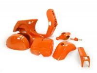 Frame -LML, drum brake- LML Star - including mudguard, side panels, tool box, handlebar, horn cover - orange