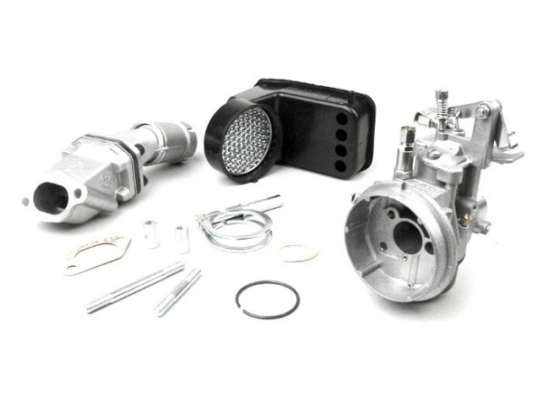 Carburator kit -POLINI 2-stud, 19mm Dellorto SHB, reed valve- Vespa PK S