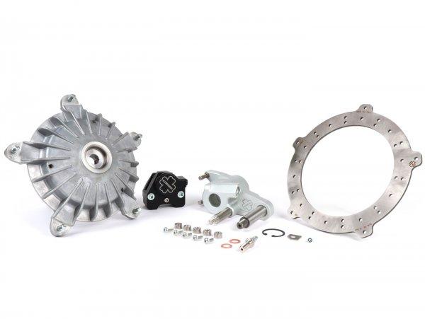 Disc brake set front -CRIMAZ 2.0 RDP/CNC Ø200mm- Vespa V50, 50 Special, 50SR, SS50, SS90, V90, PV125, ET3 - black brake caliper