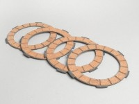 Clutch friction plate set -SURFLEX 4 friction plates- Lambretta (series 1-3)