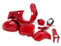 Chasis -LML- Select / T5- incluye guardabarros, cófanos, guantera, manillar, cubredirección - rojo
