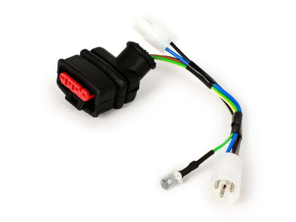 Wire group CDI -PIAGGIO- 4-way central plug - used for Vespa PX 125/150cc 2-stroke engine from Bj.2011 (China Ignition)