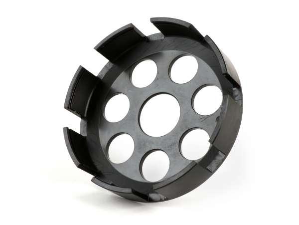 Carcasa embrague -ONKEL MIKE 'DDOG' CNC tipo 7 muelles, Ø ext.=115mm, Ø int.=108mm- Vespa Rally 180 (VSD1T0014741-), Rally 200 (VSE1T), PX 200 (VSX1T), T5 125cc (VNX5T), Cosa1 125 (VNR1T), Cosa1 150 (VLR1T), Cosa1 200 (VSR1T)