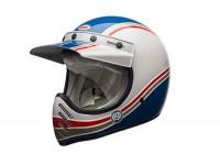 Helm -BELL MOTO-3 Seasonal RSD Malibu 17- Crosshelm, blau/weiss -