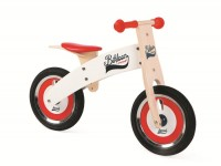 Balance bike, wood -JANOD- red/white