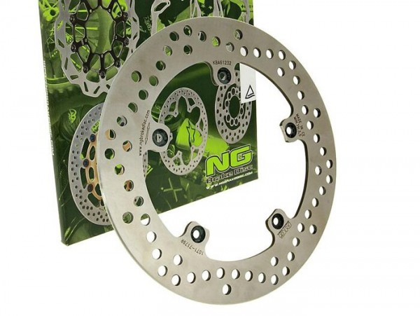 Bremsscheibe -NG Ø240x125x4mm- Gilera Runner SP 125 (1999-2003) hinten links, Gilera DNA 125 (2000) hinten rechts, Gilera DNA 125 (2000) vorne links, Gilera DNA 50 (2000-2001) vorne links, Gilera DNA 180 (2000-2003) vorne links, Gilera DNA 180 (2000-