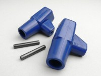 Stand feed rubber -LAMBRETTA- LI, LIS, SX, TV, DL, GP - blue