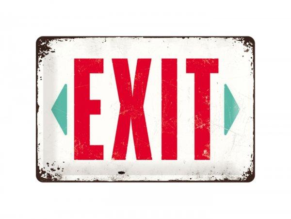 "Reklameschild -Nostalgic Art- ""Exit"", 20x30cm"